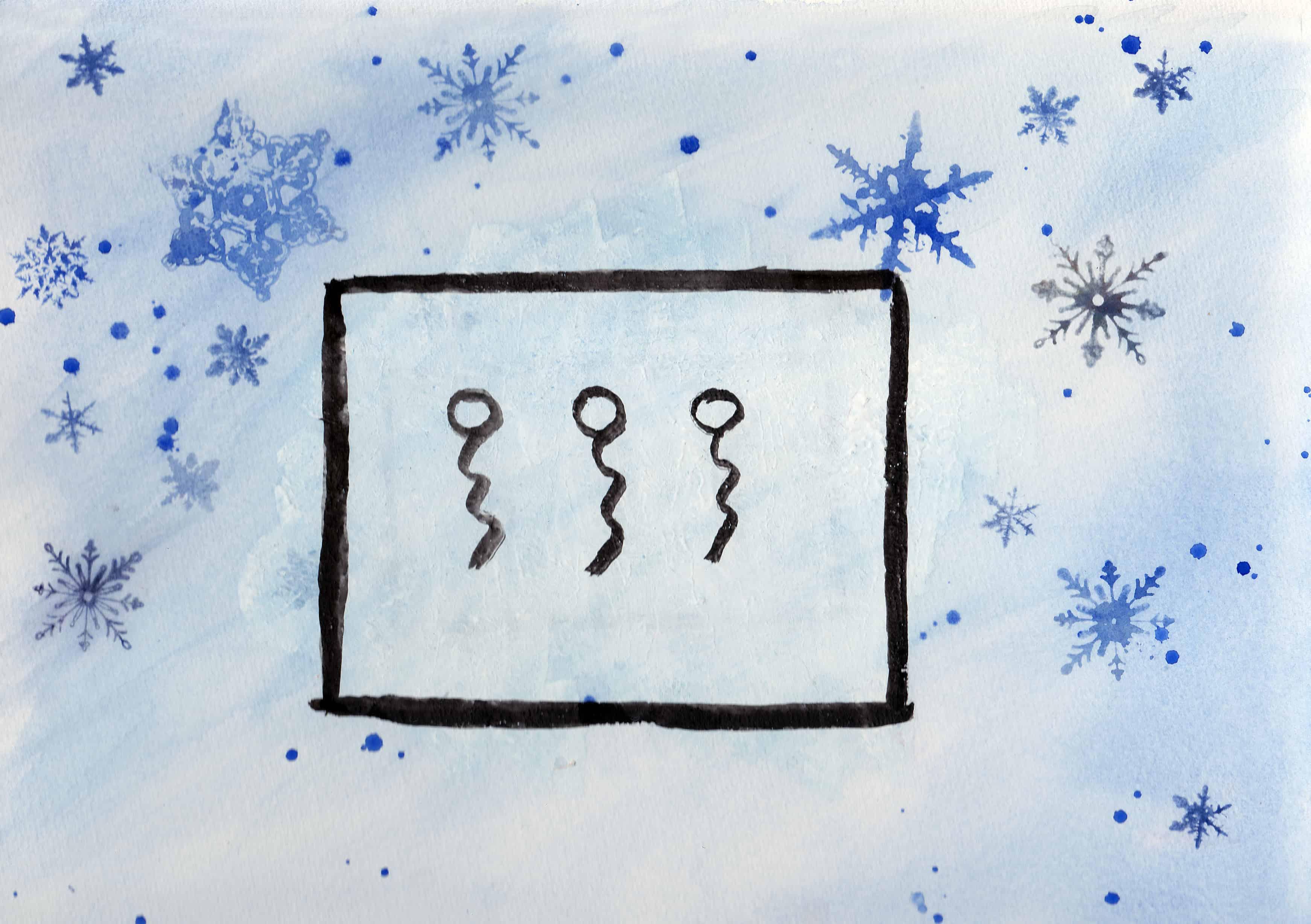 Winter - 100 Sacred Symbols in Watercolour by Linda Ursin
