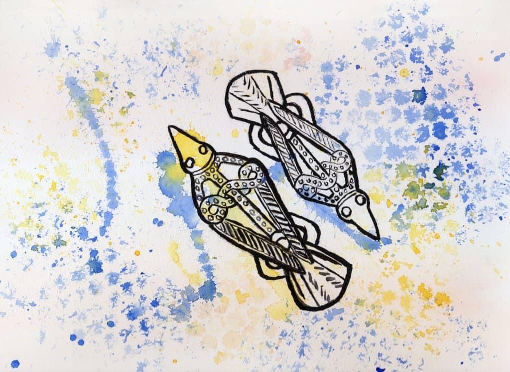 Hugin & Munin - 100 Sacred Symbols in Watercolour by Linda Ursin