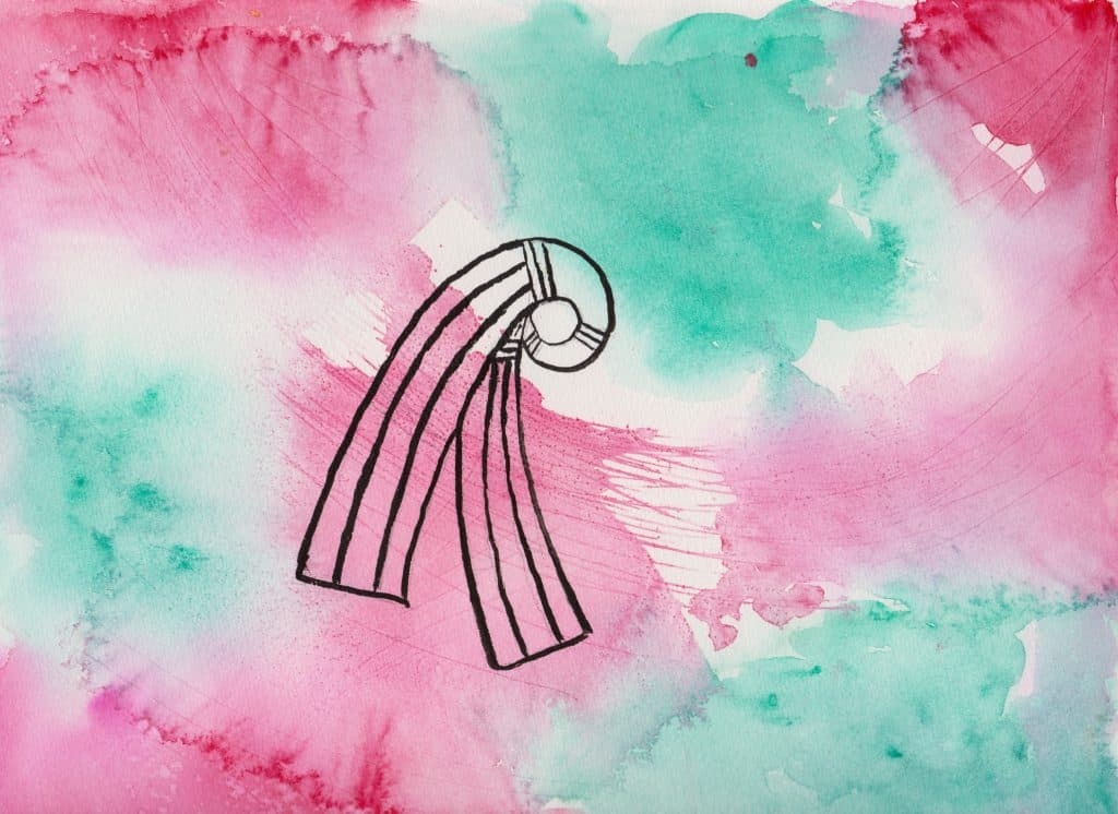Knot of Inanna - 100 Sacred Symbols in Watercolour by Linda Ursin