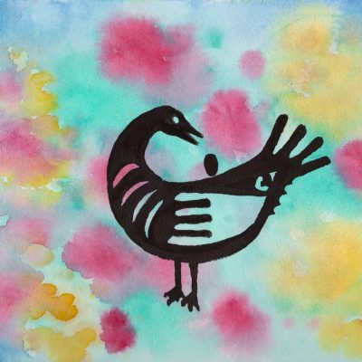 Sankofa Bird - 100 Sacred Symbols in Watercolour by Linda Ursin