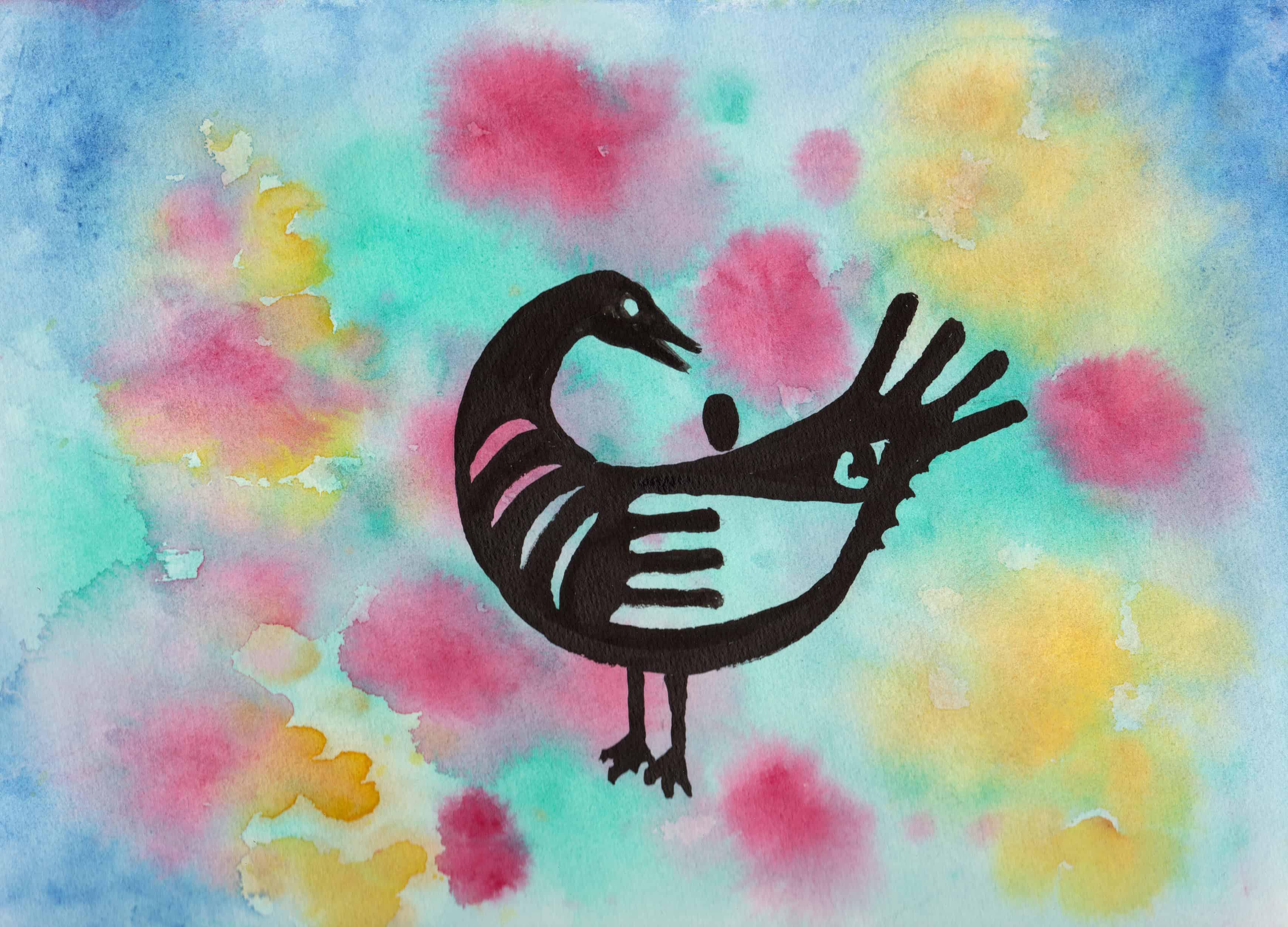 Sankofa Bird - 100 Sacred Symbols in Watercolour by Linda Ursin