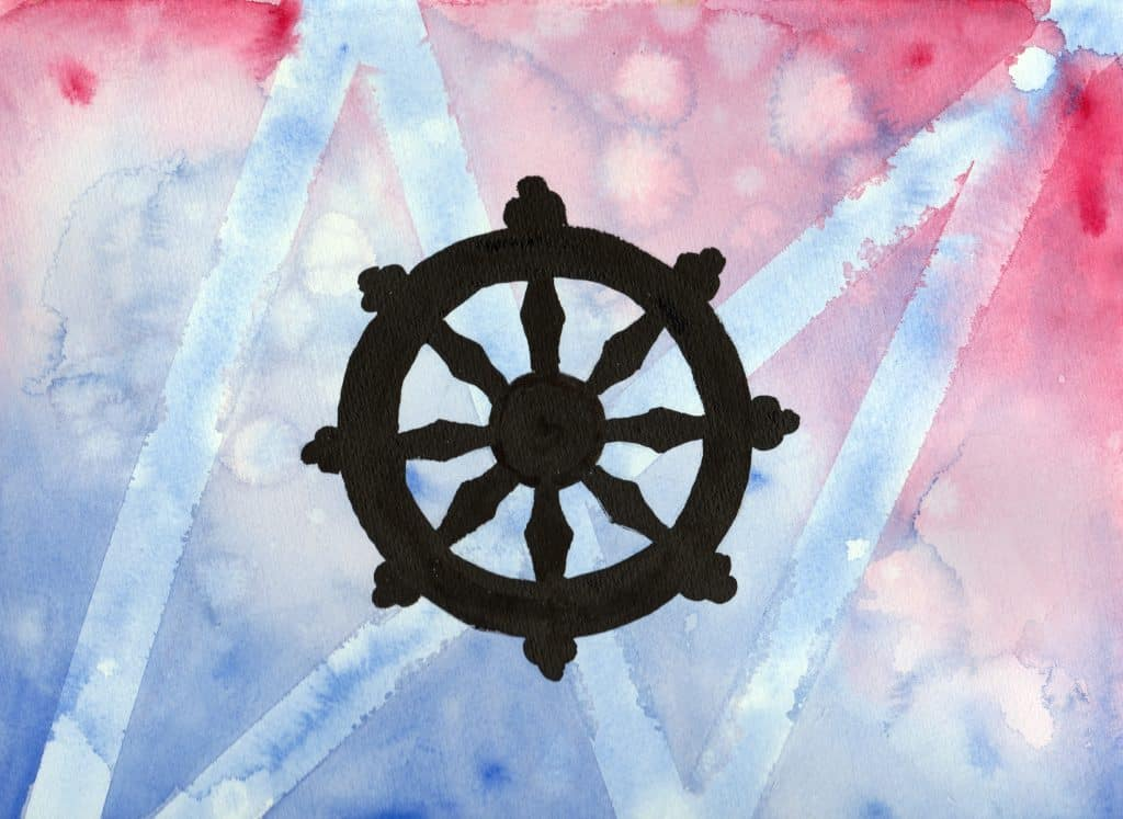 Wheel of Dharma - 100 Sacred Symbols in Watercolour by Linda Ursin