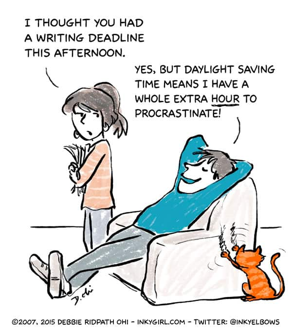 Dailyght saving time writer by Debbie Ridpath Ohi at Inkygirl