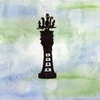 Djed - 100 Sacred Symbols in Watercolour by Linda Ursin