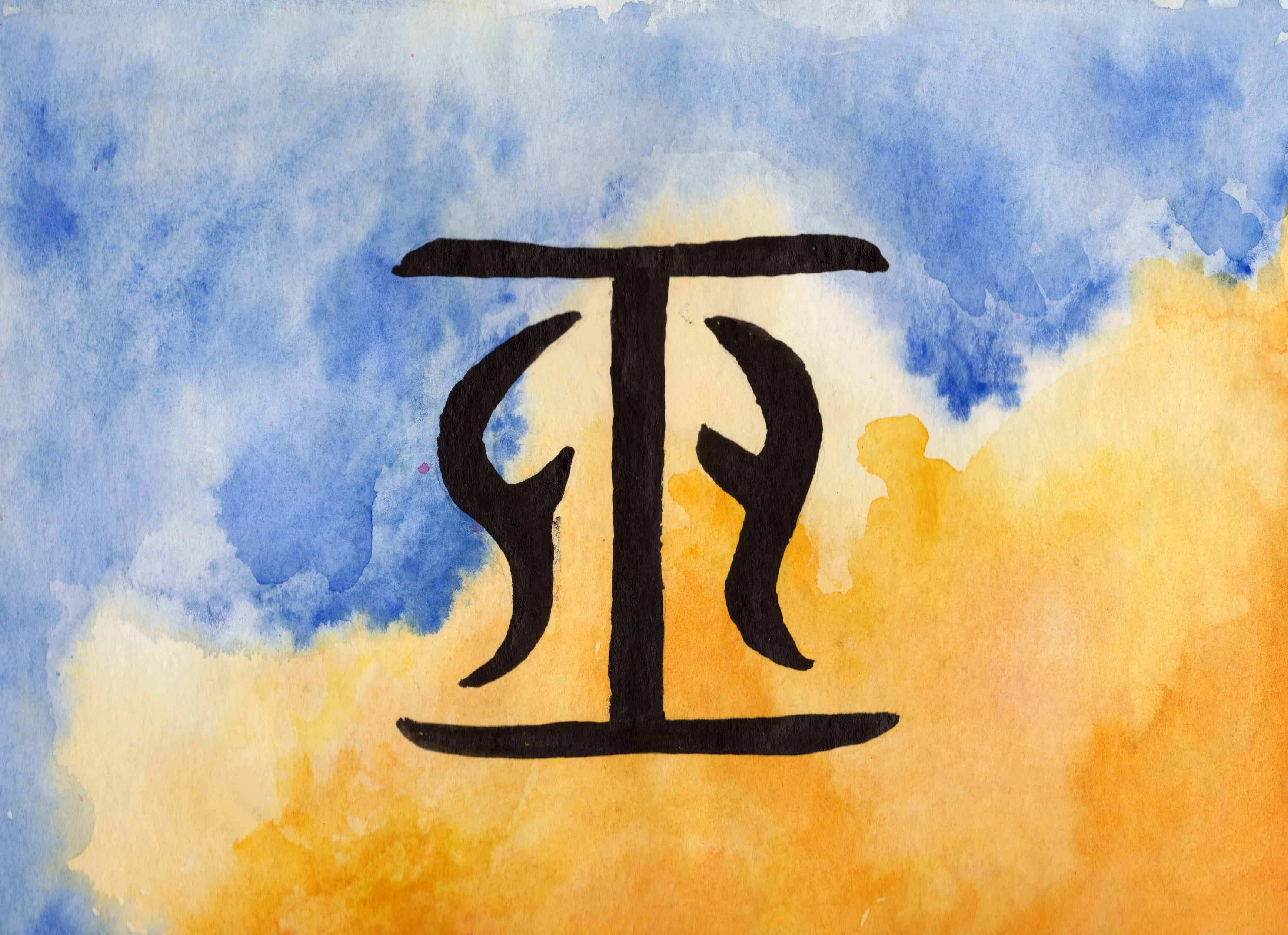 Wu - 100 Sacred Symbols in Watercolour by Linda Ursin