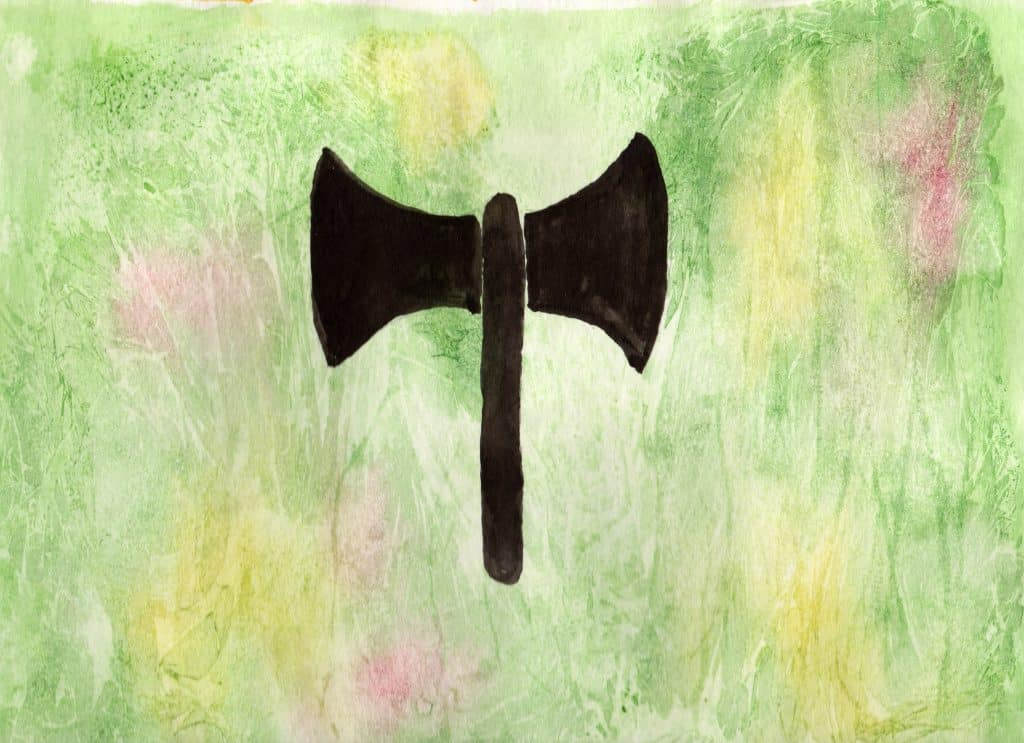 Labrys - 100 Sacred Symbols in Watercolour by Linda Ursin