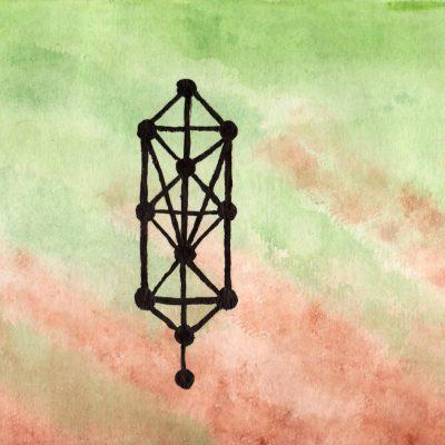 Tree of Life - 100 Sacred Symbols in Watercolour by Linda Ursin