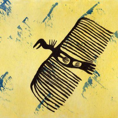 Vulture - 100 Sacred Symbols in Watercolour by Linda Ursin