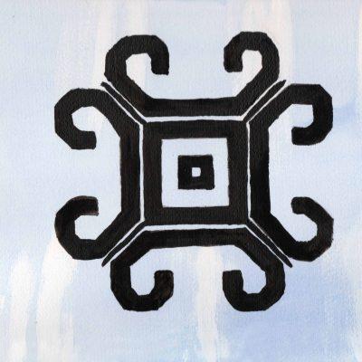 Meness Zime - 100 Sacred Symbols in Watercolour by Linda Ursin