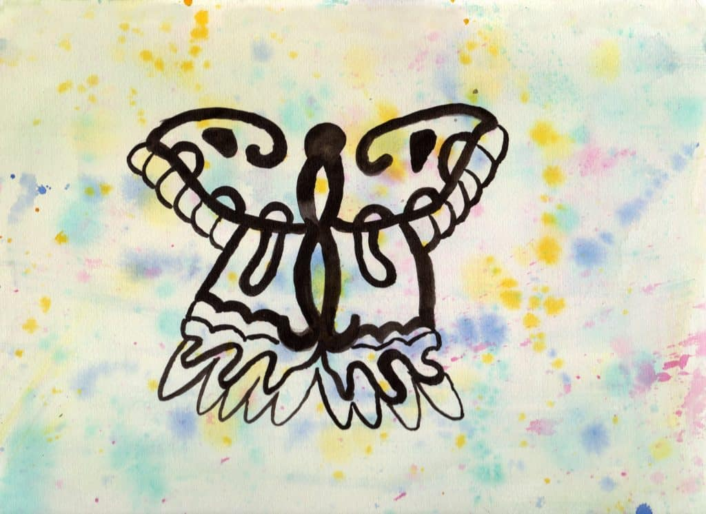 Butterfly - 100 Sacred Symbols in Watercolour by Linda Ursin