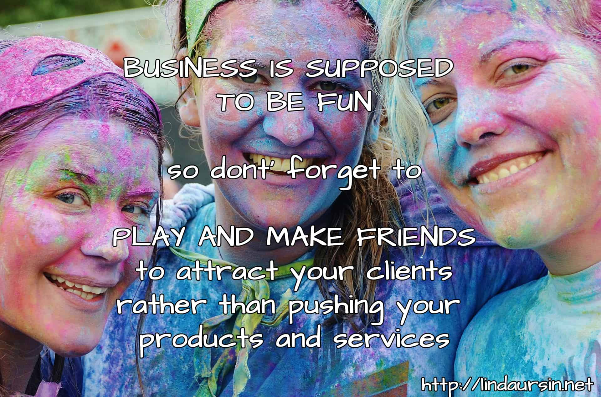 Why not make new friends instead of pushy marketing?