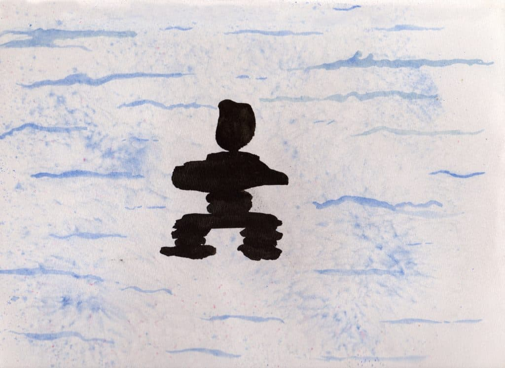 Inukshuk - 100 Sacred Symbols in Watercolour by Linda Ursin