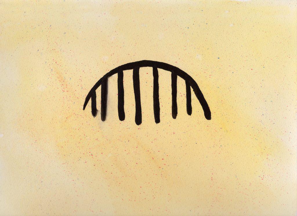 Rain - 100 Sacred Symbols in Watercolour by Linda Ursin