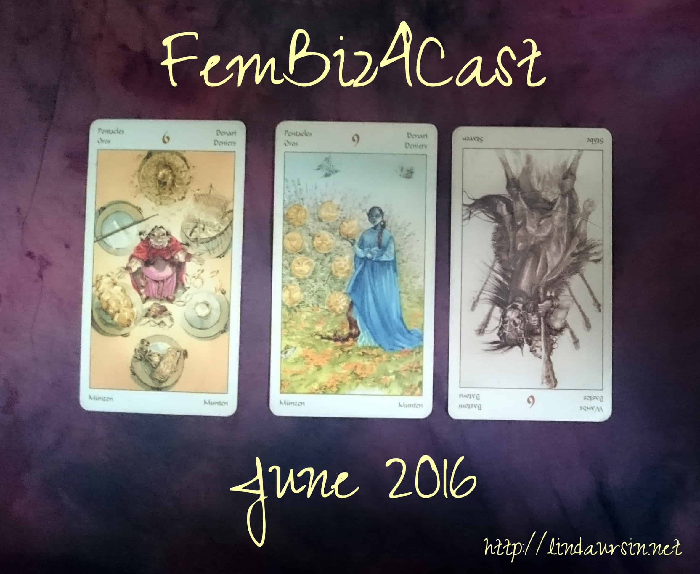 My fembiz4cast (tarot forecast) is now monthly