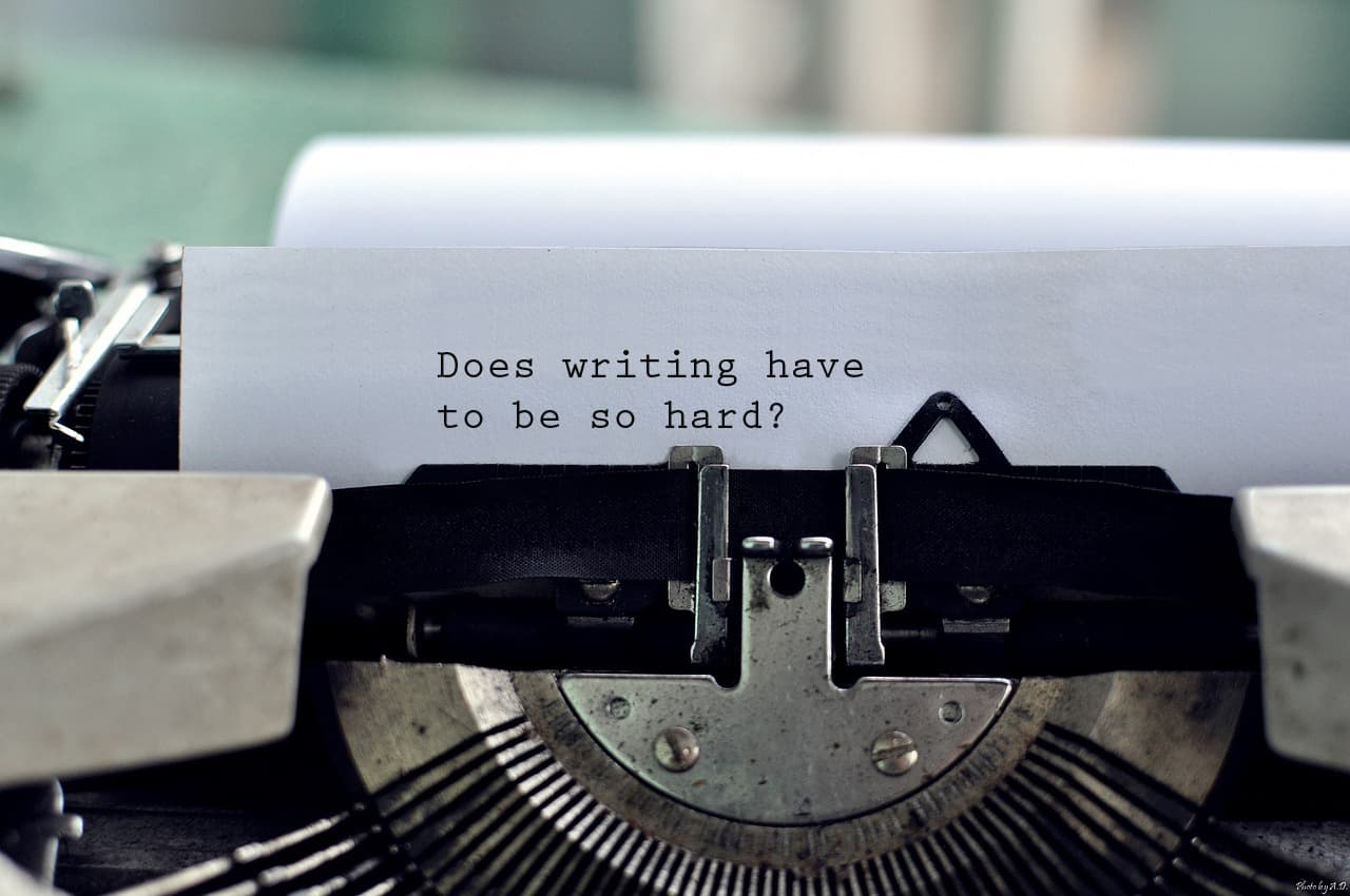 Writing can be so damned hard you don't do it