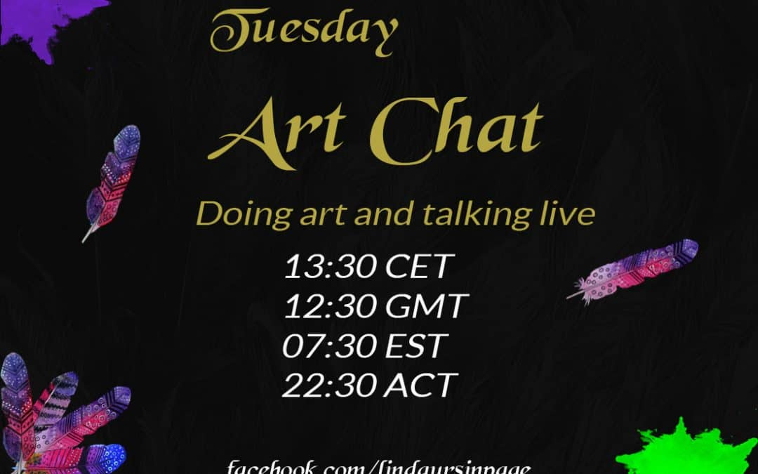 You can watch my art live on facebook