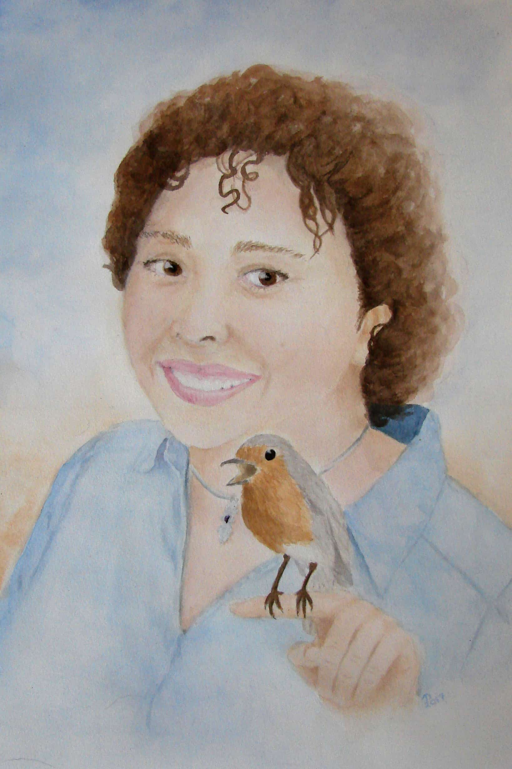 Portrait of Lisa Robbin Young with her spirit animal