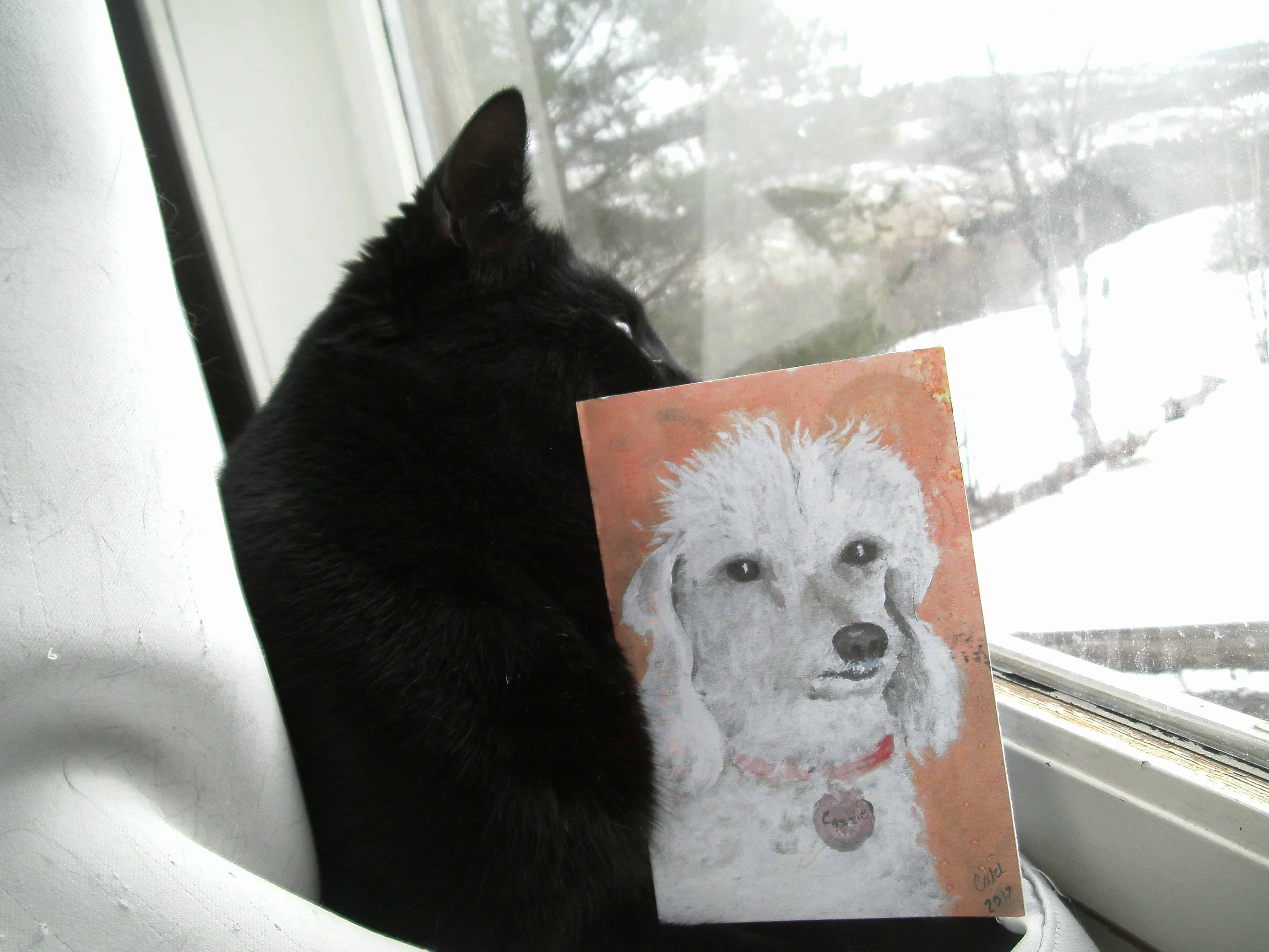 A painting of a dog by Cari Kurtz, USA