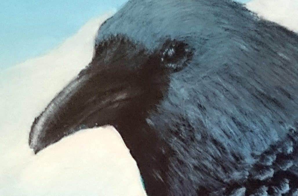 Lene and the Raven, a story inspired by a painting