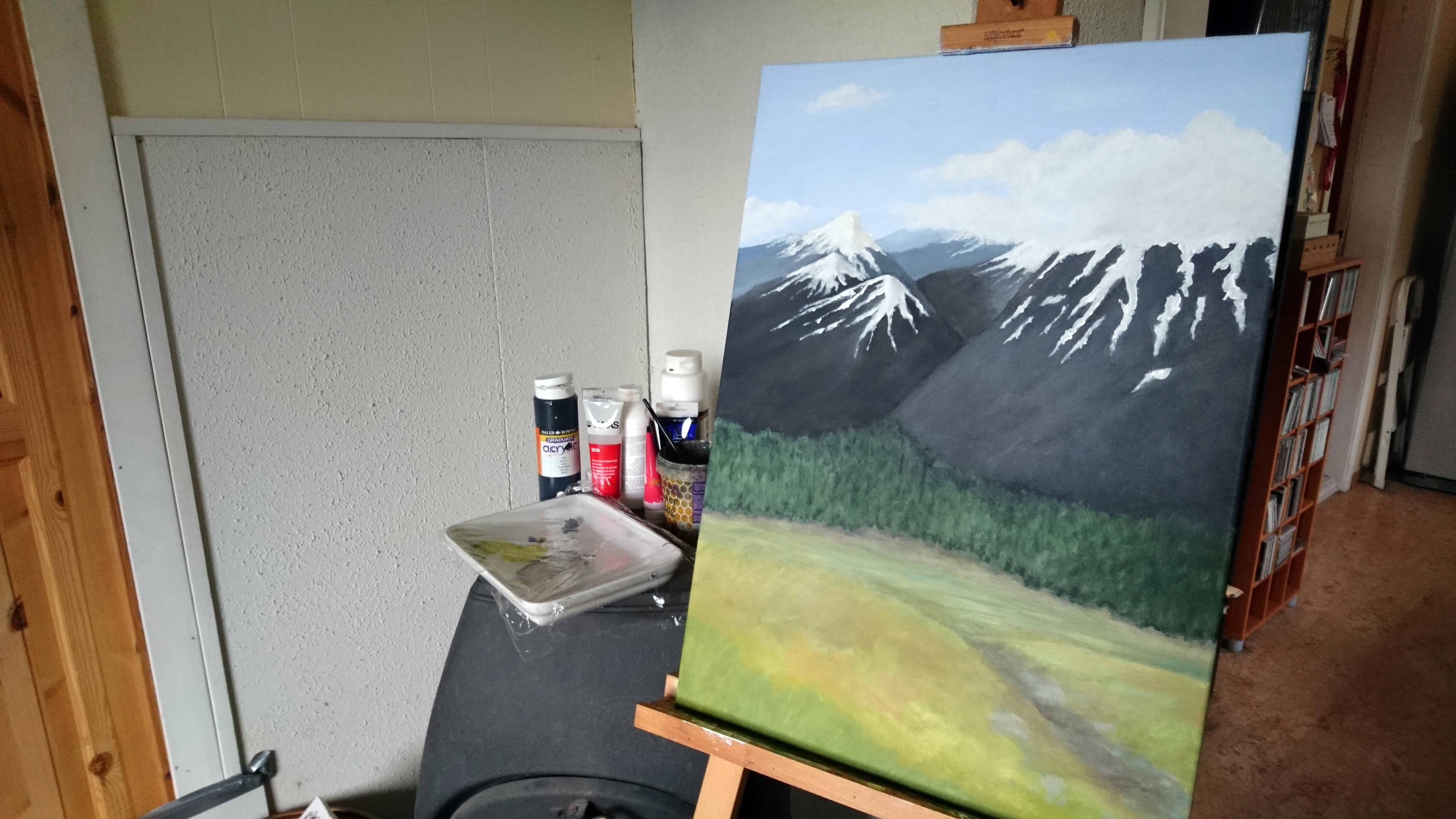Jotunheim, on the easel