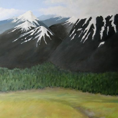 Jotunheim - The realm of the Jotnar in Norse mythology - acrylic landscape by Linda Ursin