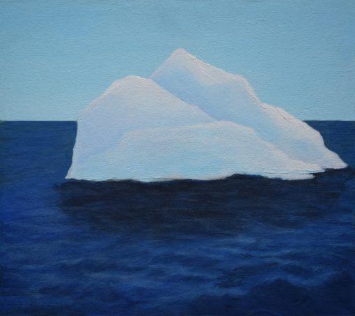 Iceberg - Acrylic painting by Linda Ursin