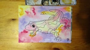What Do You Think of This Colorful Salamander in Watercolor