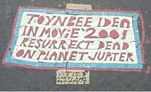 Toynbee tile at Franklin Square - Unknown artists