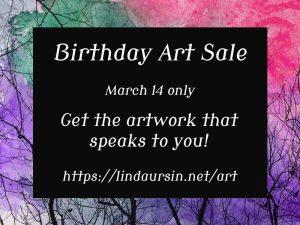 birthday art sale
