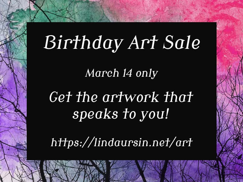 Let the Birthday Art Sale Begin