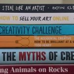 Art and Creativity Books on my Bookshelf-pin