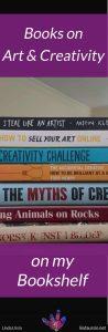 Art and Creativity Books on my Bookshelf-pin