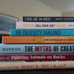 Art and Creativity Books on my Bookshelf