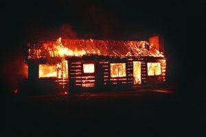 Burning house from Pixabay