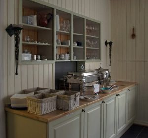 Part of the serving area in the dining room