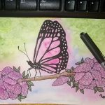 Watercolor painting butterfly